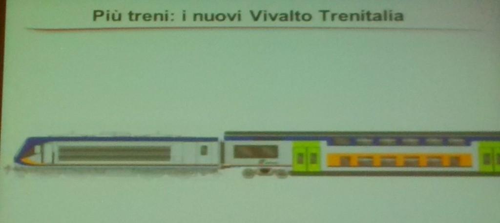 La nuova livrea per i convogli Vivalto - Foto Giovanni Giglio