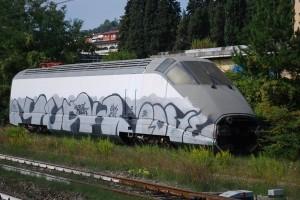 La motrice E404.000 a Pontassieve - Foto Michele Sacco