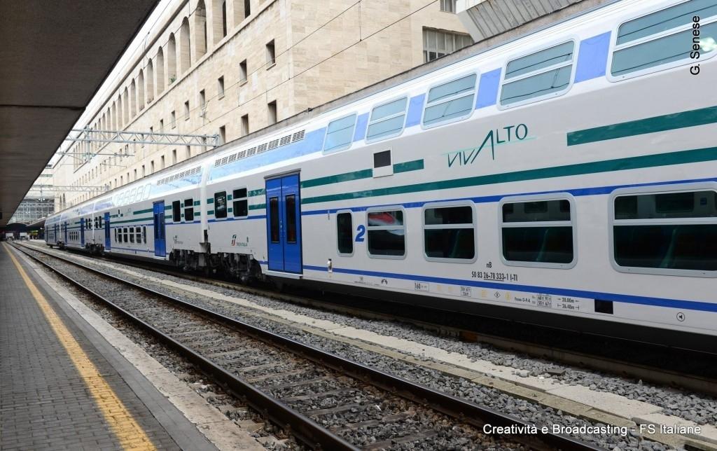 Un convoglio Vivalto a Roma Termini - Foto Gruppo Ferrovie dello Stato Italiane