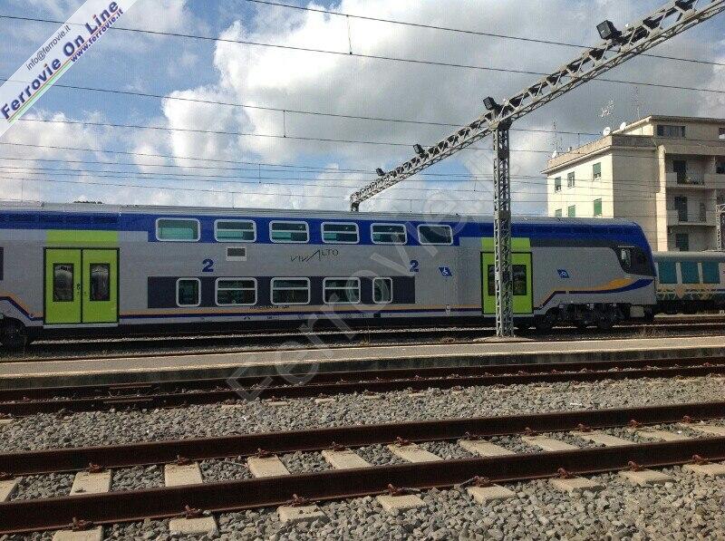 Il treno Vivalto nella nuova livrea per i servizi regionali di Trenitalia - Per gentile concessione di Ferrovie.it