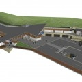 Vista aerea della nuova stazione di Mezzana (foto da progetto)