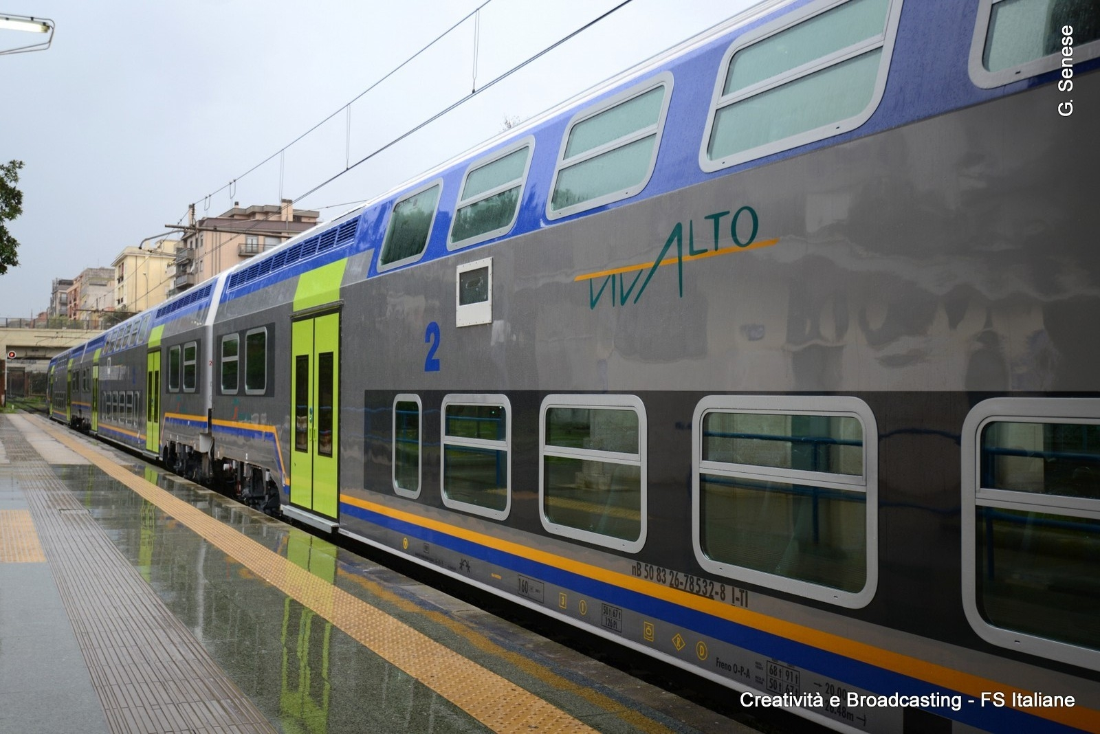 Il nuovo Vivalto in servizio sulla FR8 Roma-Nettuno - Foto Gruppo Ferrovie dello Stato