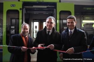 Il Presidente della Regione Toscana, Enrico Rossi inaugura i nuovi treni regionali - Foto Gruppo Ferrovie dello Stato Italiane