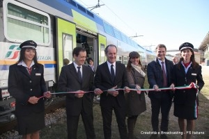 Soprano e Zaia tagliano ilo nastro inaugurale - Foto Gruppo Ferrovie dello Stato Italiane
