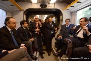 Orlando, Bianco e Crocetta a bordo del Minuetto Palermo-Catania - Foto Gruppo Ferrovie dello Stato Italiane