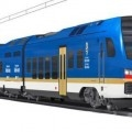 Immagine del nuovo treno bimodale Flirt3 della Stadler per la Regione Valle d'Aosta - Foto Stadler