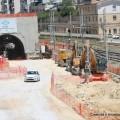 Lavori per il passante ferroviario a Palermo Notarbartolo - Foto Gruppo FS Italiane