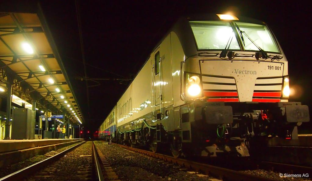 La locomotiva Vectron Siemens  in versione DC - Foto Siemens AG