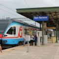 Il Flirt Etr330 Fg che ha effettuato l'ultima corsa lungo la linea storica fino San Nicandro - Foto Ferrovie del Gargano