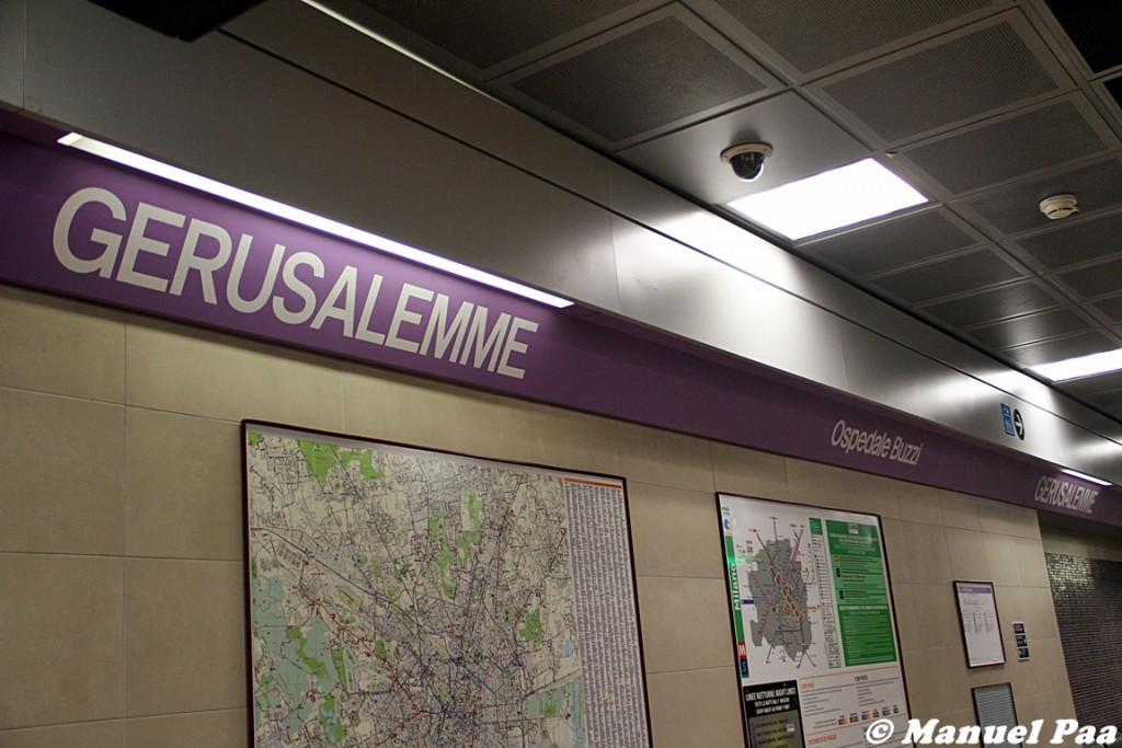 Interno della nuova stazione M5 Gerusalemme - Foto Manuel Paa
