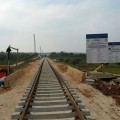 La giunzione dei binari della nuova tratta con la linea storica - Foto Ferrovie del Gargano