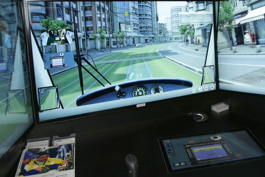 Simulatore Tram Alstom Citadis - Foto Alstom