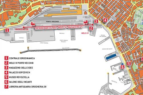 Il percorso del treno speciale al Porto Vecchio di Trieste in occasione della Barcolana 2015