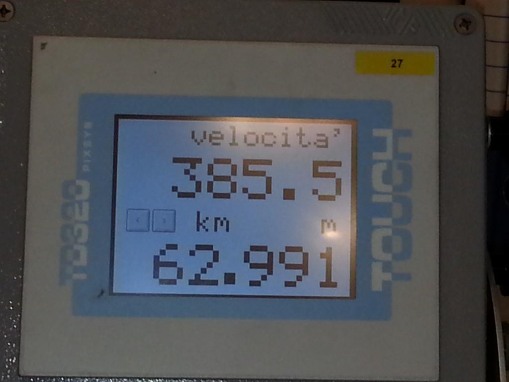 Il nuovo record di velocità di 385,5 km/h raggiunto dal Frecciarossa 1000 - Foto Gruppo FS Italiane