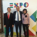 Ad Trenitalia Soprano, Commissario Expo 2015 Sala e Ad Trenord Farisè - Foto Gruppo FS Italiane