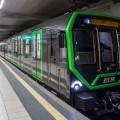 Il convoglio Leonardo nero con profili verdi per la linea M2 di Milano - Foto ATM