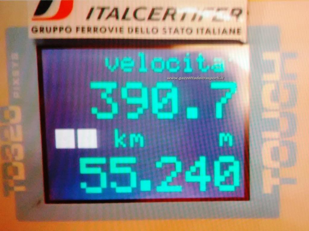 Frecciarossa 1000 a 390 km/h
