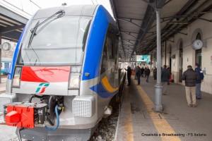 Il treno ATR220 Swing alla stazione di Potenza Centrale - Foto FS Italiane
