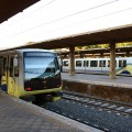 Treni della Roma-Lido in sosta nella stazione di Porta San Paolo - Foto Gabriele Nicastro