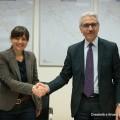 Debora Serracchiani, Presidente della Regione Autonoma Friuli Venezia Giulia, e da Maurizio Gentile, Amministratore Delegato di Rete Ferroviaria Italiana